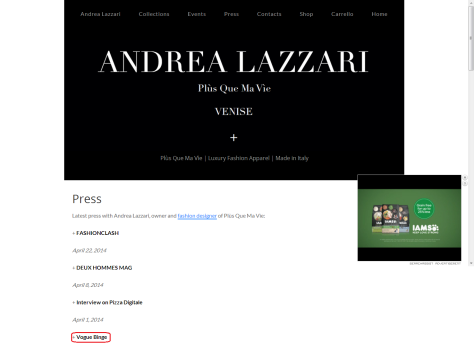andrea lazzari press page
